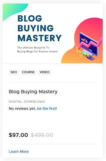 Blog Buying Mastery