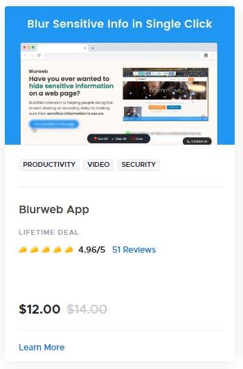 Blurweb App
