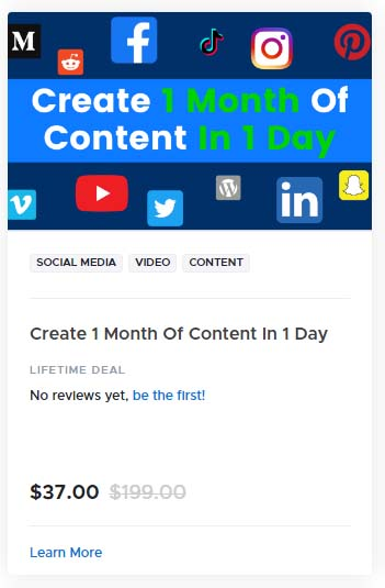Create 1 Month Of Content In 1 Day