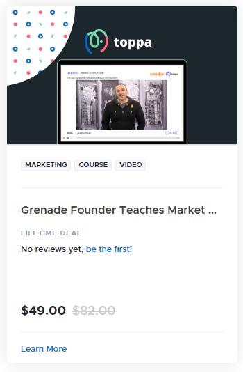 Grenade Founder Teaches Market