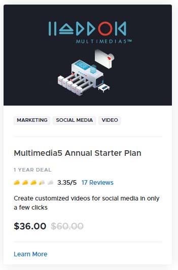 Multimedia5 Annual Starter Plan