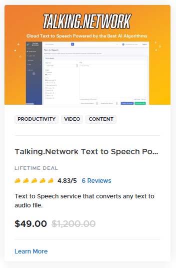 Talking Network Text to Speech